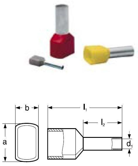 Dutinka lisovací s izolací dvojitá DID 6-14