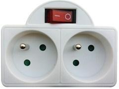 Rozbočka 2x s vypínačem (2x10A) P97