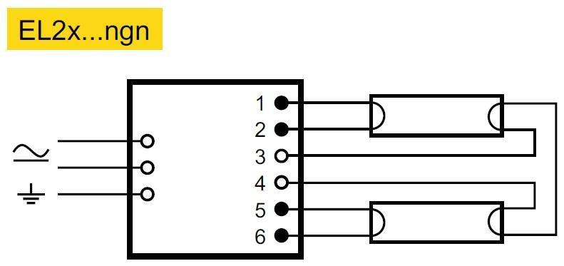 Elektronicky Predradnik El 2x58ngn Helvar 2x58w 2eshop