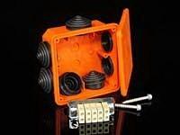 Krabice PO 8110 IP54 117x117x58 požárně odolná vč.svorkovnice