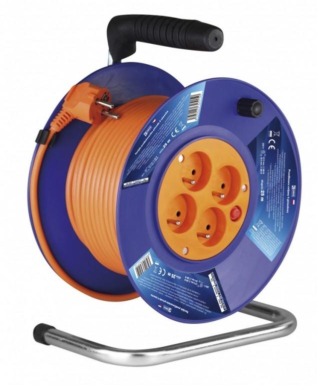 Prodlužovací kabel na bubnu - 4 zásuvky 25m - P19425
