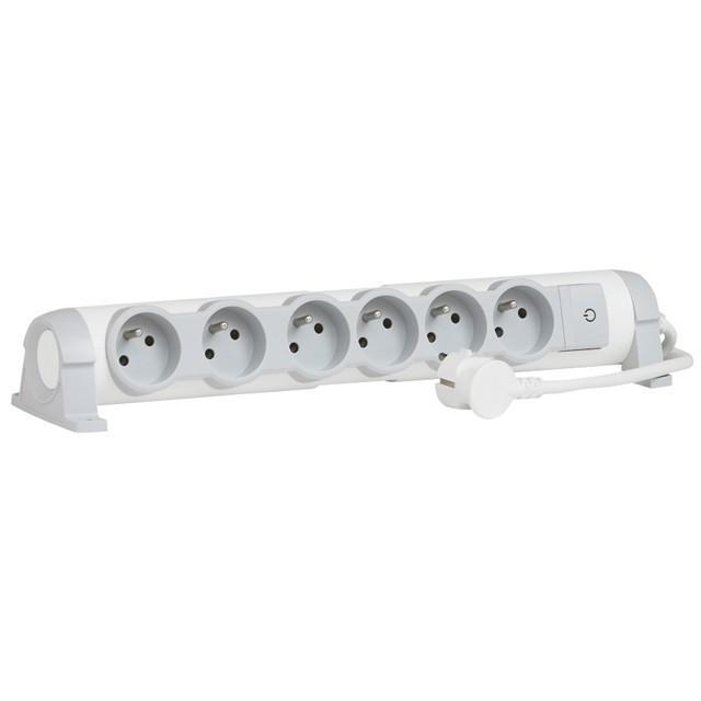 Prodlužovací přívod s přep.ochranou 6P+T 1,5m - 50097