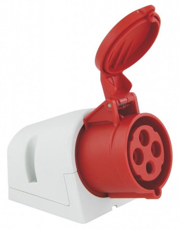 Zásuvka nástěnná PCE 32A 4p 6h - 124-6