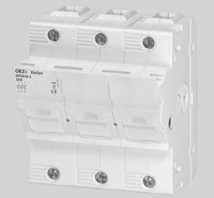 Pojistkový odpojovač OPVA14-3 63A 500V