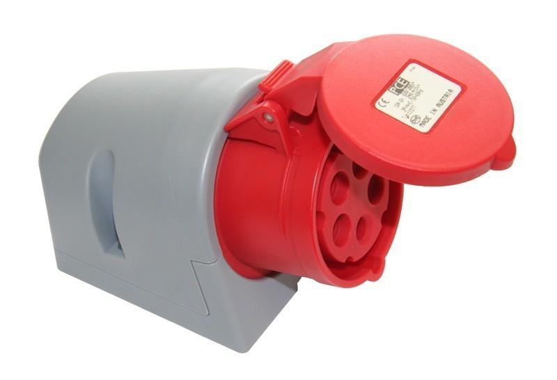 Zásuvka nástěnná PCE 32A 5p 6h IP44 - 125-6