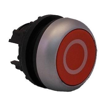 Tlačítko zapuštěné M22-D-R-X0 216605 červené s O bez aretace