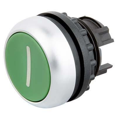 Tlačítko zapuštěné M22-D-G-X1 216607 zelené s I bez aretace