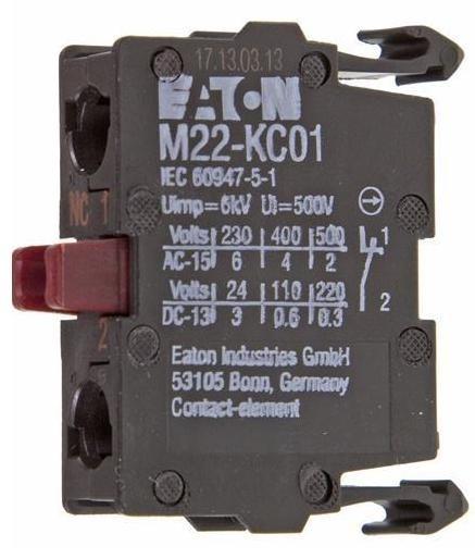 Kontaktní prvek M22-KC01 216382 rozpínací