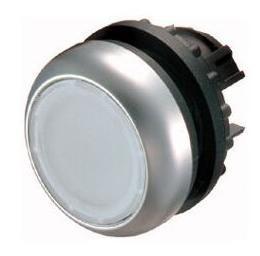 Tlačítko zapuštěné M22-DL-W 216922 bílé bez aret. prosv.