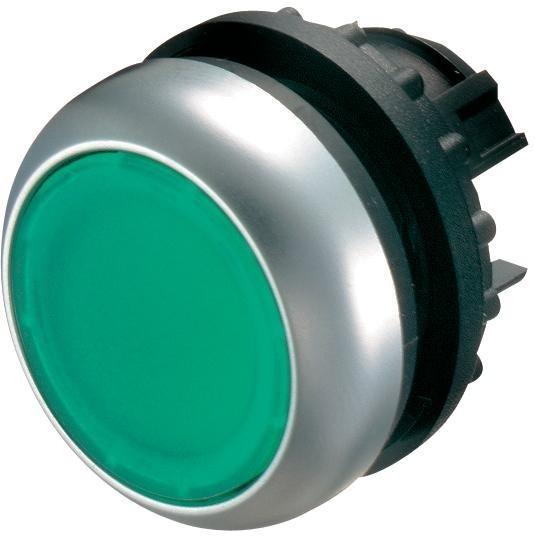 Tlačítko zapuštěné M22-DL-G 216927 zelené bez aret. prosv.