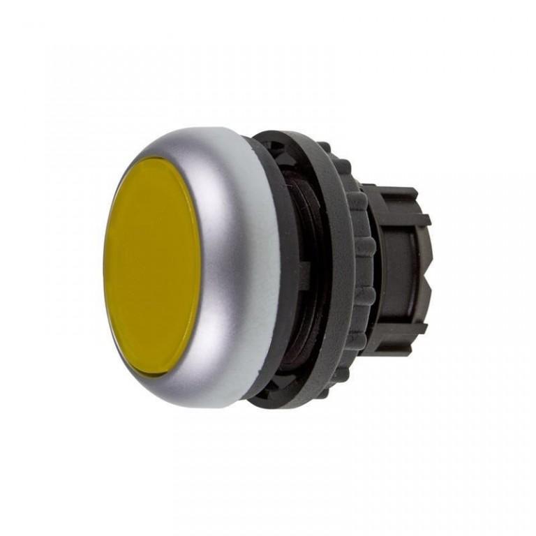 Tlačítko zapuštěné M22-DL-Y 216929 žluté bez aret. prosv.