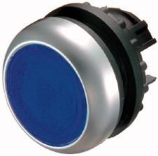 Tlačítko zapuštěné M22-DL-B 216931 modré bez aret. prosv.