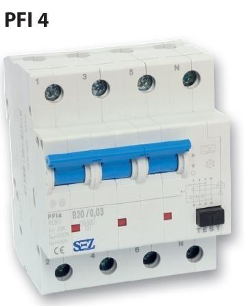 Proudový chránič SEZ PFI14 B25/0,03 - 0090905
