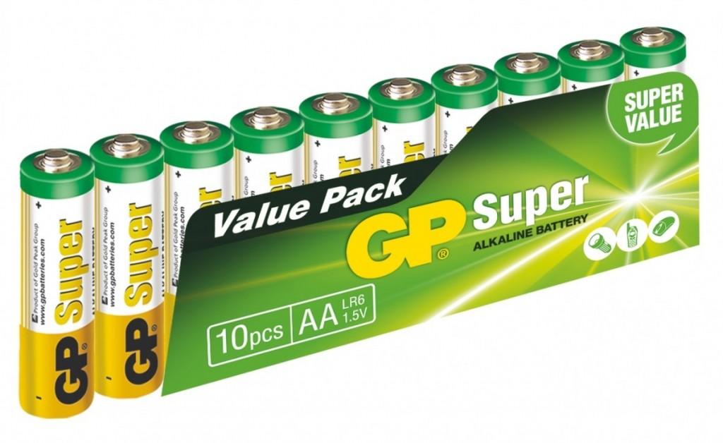 Alkalická baterie GP Super LR6 (AA),