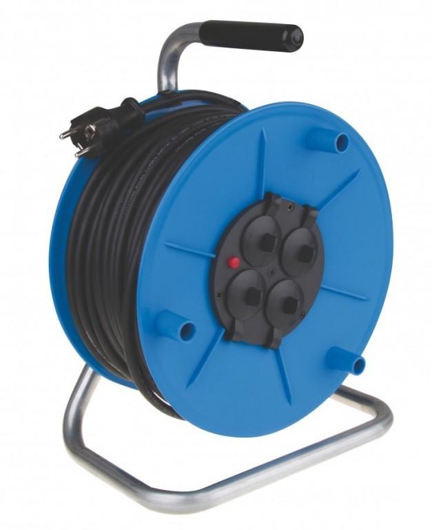 Gumový prodlužovací kabel na bubnu - 4 zásuvky 50m - P08450M