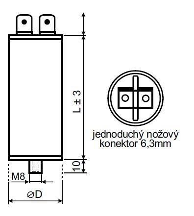 Rozběhový kondenzátor 18 µF konektor - MPB0180041