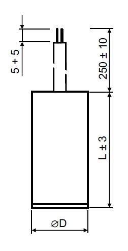 Rozběhový kondenzátor 25 µF kabel - MPB0250060