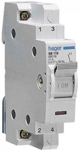 Modulární vypínač HAGER SB116 16A