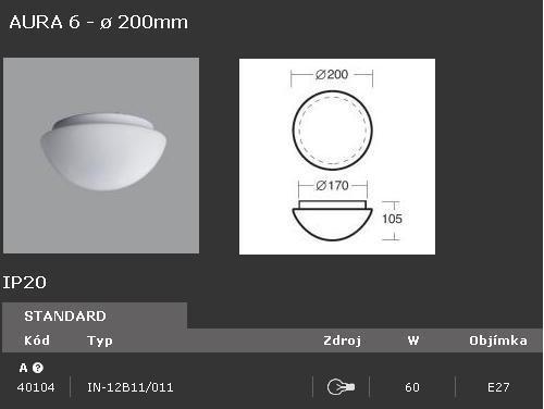 Svítidlo OSMONT AURA 6 IN-12B11/011 60W - 40104