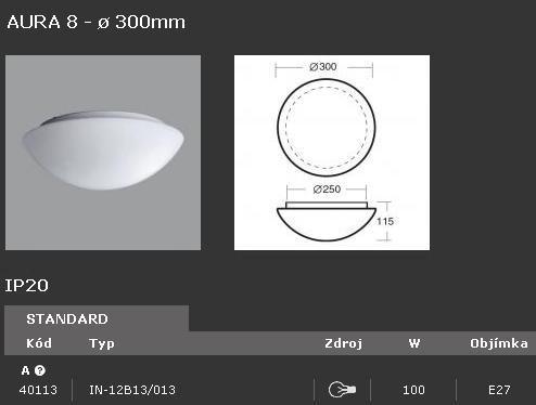 Svítidlo OSMONT AURA 8 IN-12B13/013 100W - 40113
