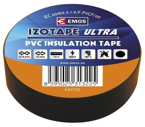 Izolační páska PVC 15mm / 10m černá - F61512
