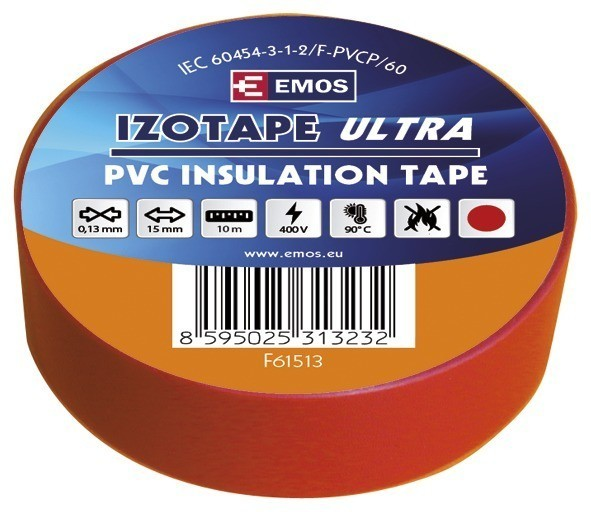 Izolační páska PVC 15mm / 10m červená - F61513
