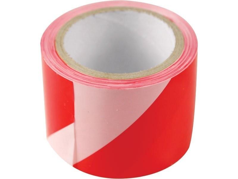 Páska výstražná červeno-bílá 75mm x 250m EXTOL Craft 9566