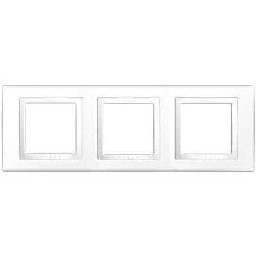 Unica Basic, krycí rámeček - 3násobný - POLAR MGU2.006.18
