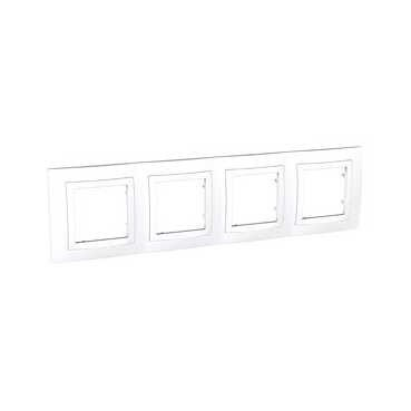 Unica Basic, krycí rámeček - 4násobný - POLAR MGU2.008.18