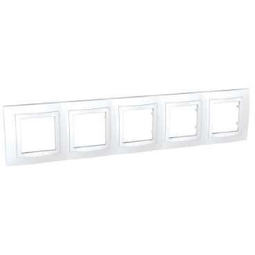 Unica Basic, krycí rámeček - 5násobný - POLAR MGU2.010.18