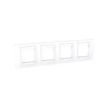 Unica Plus, krycí rámeček - 4násobný - POLAR MGU6.008.18