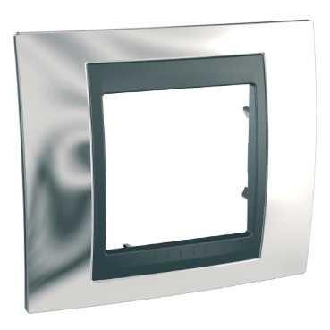 Unica Top, krycí rámeček 1násobný CROMO/GRAFIT MGU66.002.210