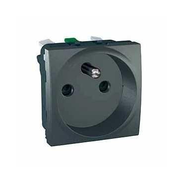 UNICA Top, zásuvka 16A/230V - 2P+PE - GRAFIT - MGU3.059.12