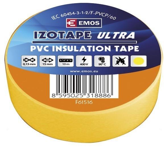 Izolační páska PVC 15mm / 10m žlutá - F615162