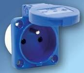 Zásuvka PCE vestavná 104-0bs 3P/16A/230V, IP54, modrá