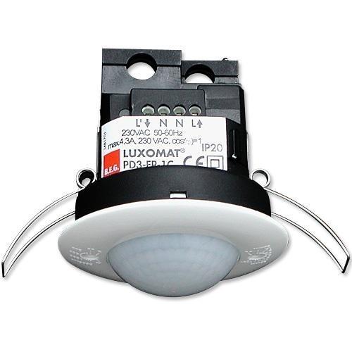 Vestavné čidlo pohybu PD3-1C-SM 360° bílé IP44 - 92197