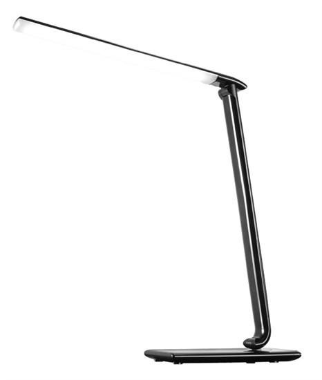 LED stolní lampa dotyk., 9W, volba teploty světla, černý lesk WO37-B