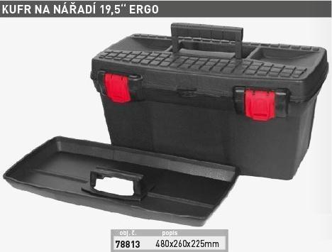 Kufr plastový na nářadí 19,5'' ERGO (480x260x225mm) - 78813