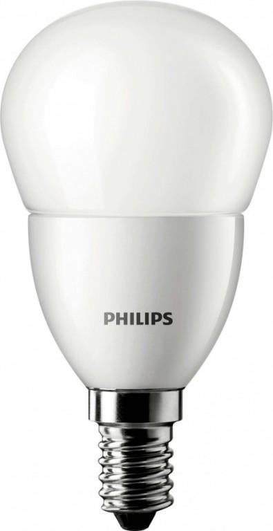 PHILIPS CorePro LEDluster ND 6-40W E14 827 P48 FR - teplá, matná kapka