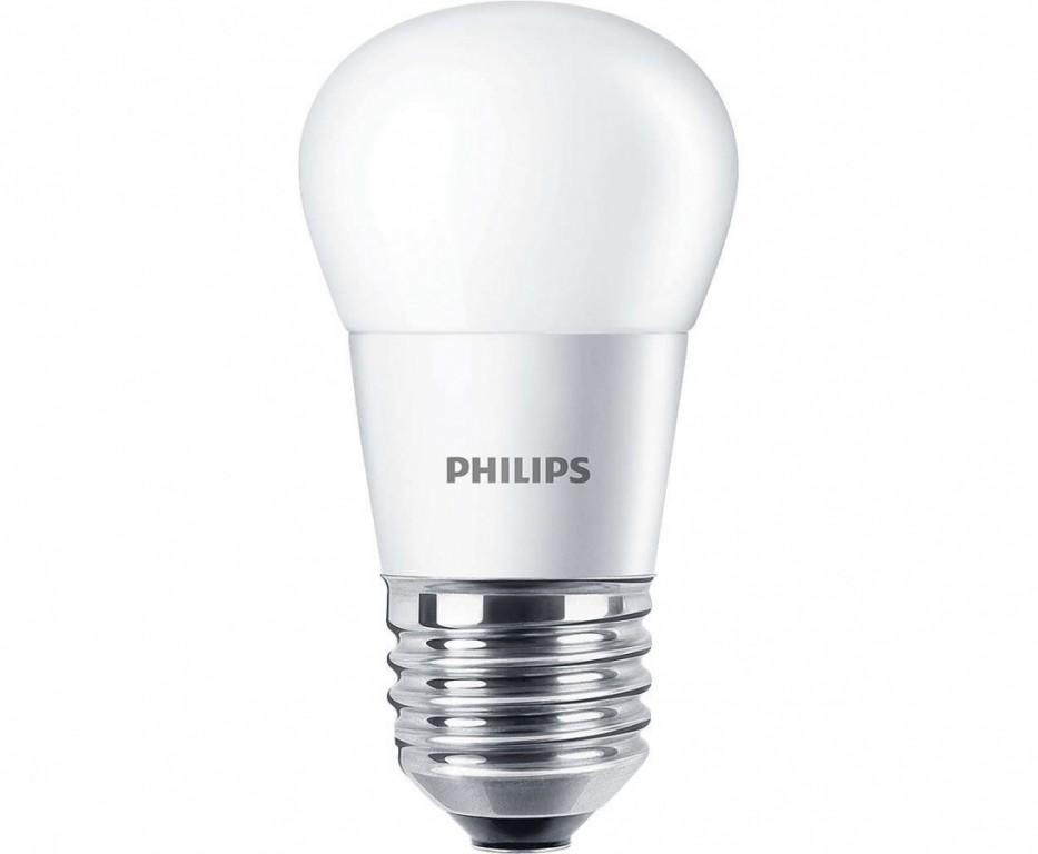 PHILIPS CorePro LEDluster ND 5.5-40W E27 827 P45 FR - teplá, matná kapka